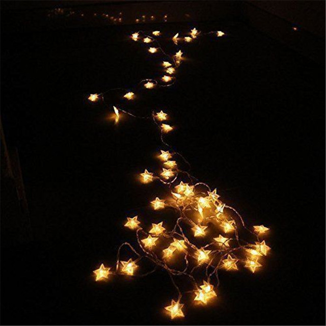 BHomify lampes à cordon étoilé de mariage, 1/2 M, lumières de fée, lumières de décoration de mariage de noël, piles AA, lumières scintillantes