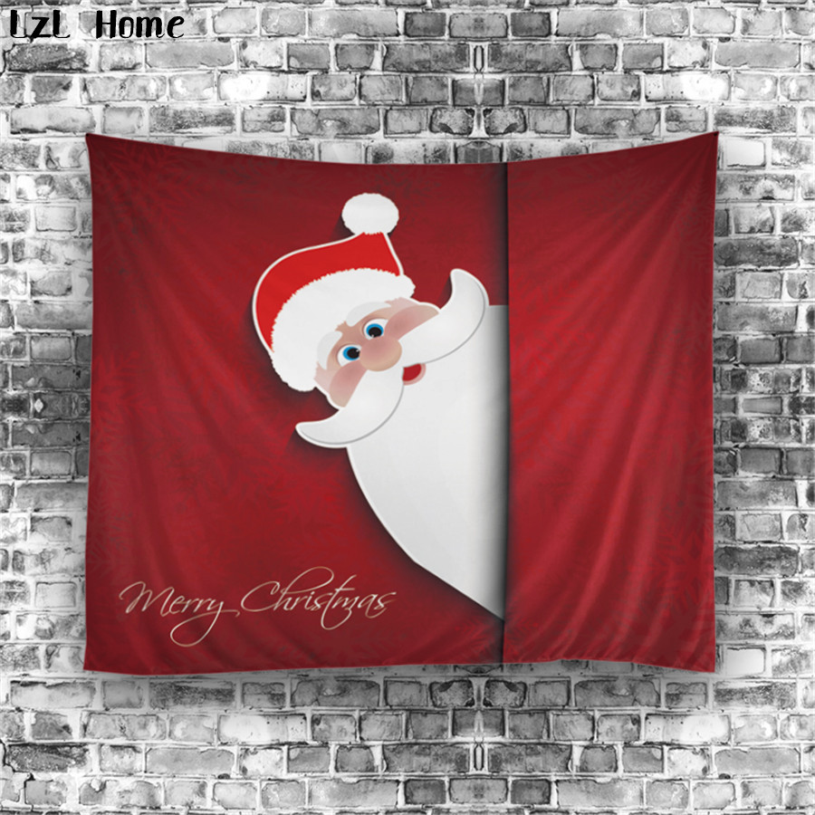 LzL Home Custom Cute Snowman Santa Claus Red-nosed Reindeer Shower Curtain Christmas Decorations For Home 3d Bathroom Curtain
