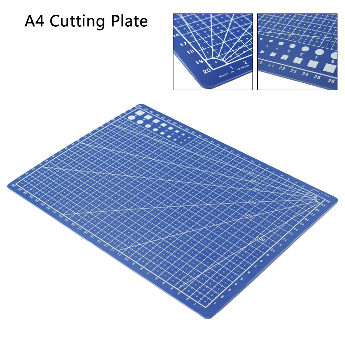 Lightweight 1pc A4 Double-side Cutting Plate Grid Lines Self Healing Cutting Mat Craft Card Paper Board For Office For School