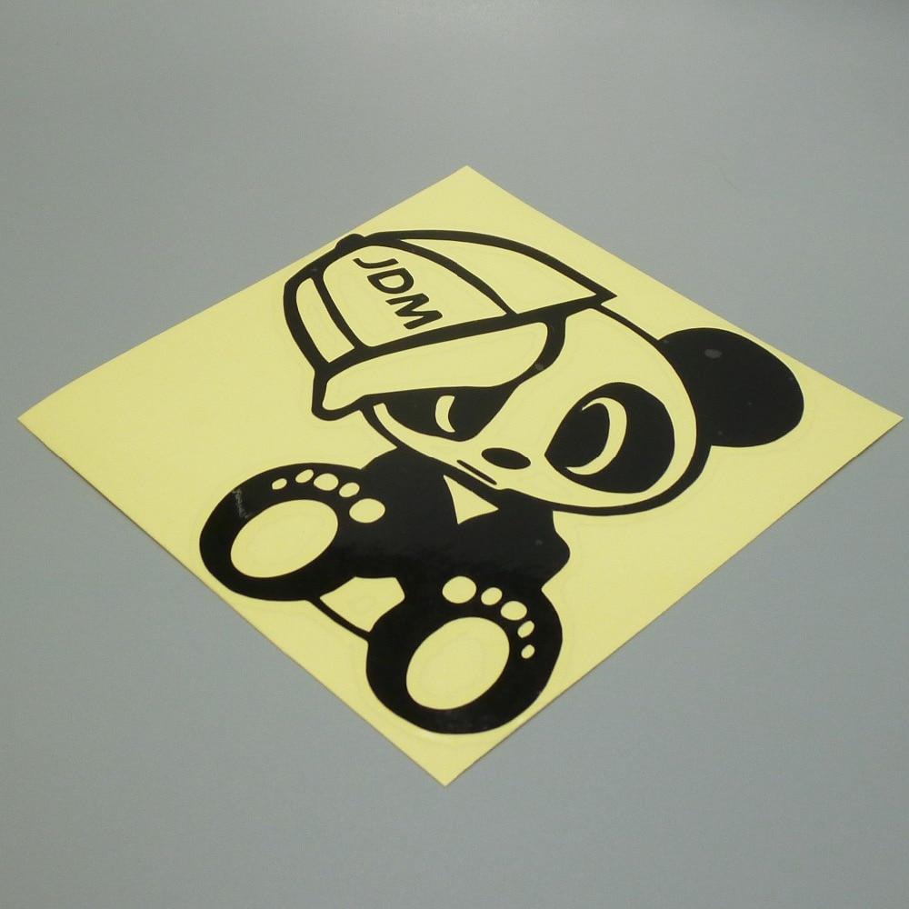 """""""XGS DECAL"""" lipdukas iš vinilo su lipduku """"JDM Panda"""" skrybėlė 15 cm x 15 cm."""