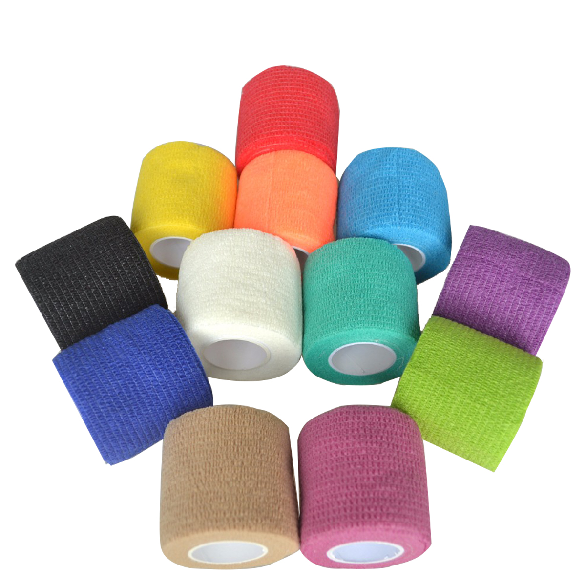24Pcs/Lot Security Protection CE/FDA Certification Waterproof Breathable Bandage Self Adhesive Tape Body Joint Care 5cm*5m