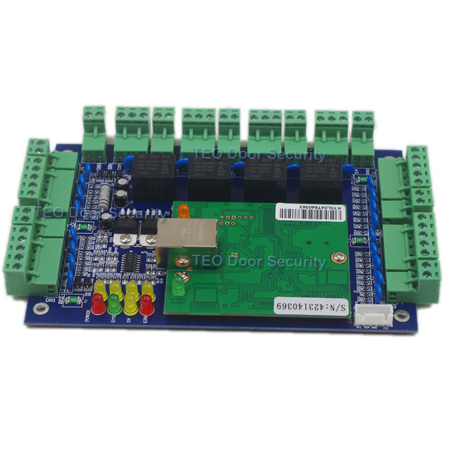 Four Door Network Access Control Panel Board With Software Communication Protocol TCP/IP board Wiegand Reader for 4 Door Use