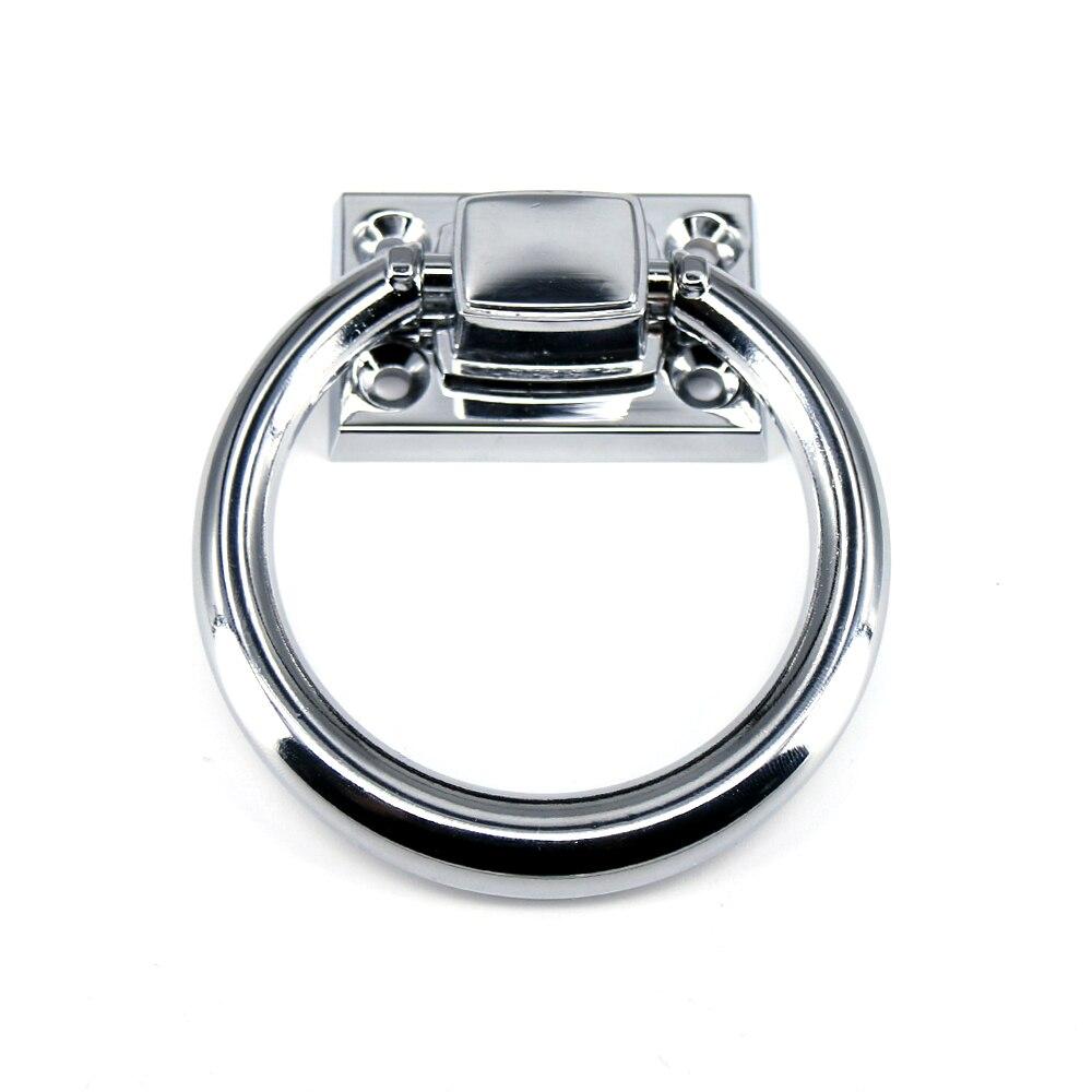918a030e3db3 1x puerta anillo redondo gabinete cajón Mango para muebles de plata  brillante de la silla sofás tirar Dia 73mm