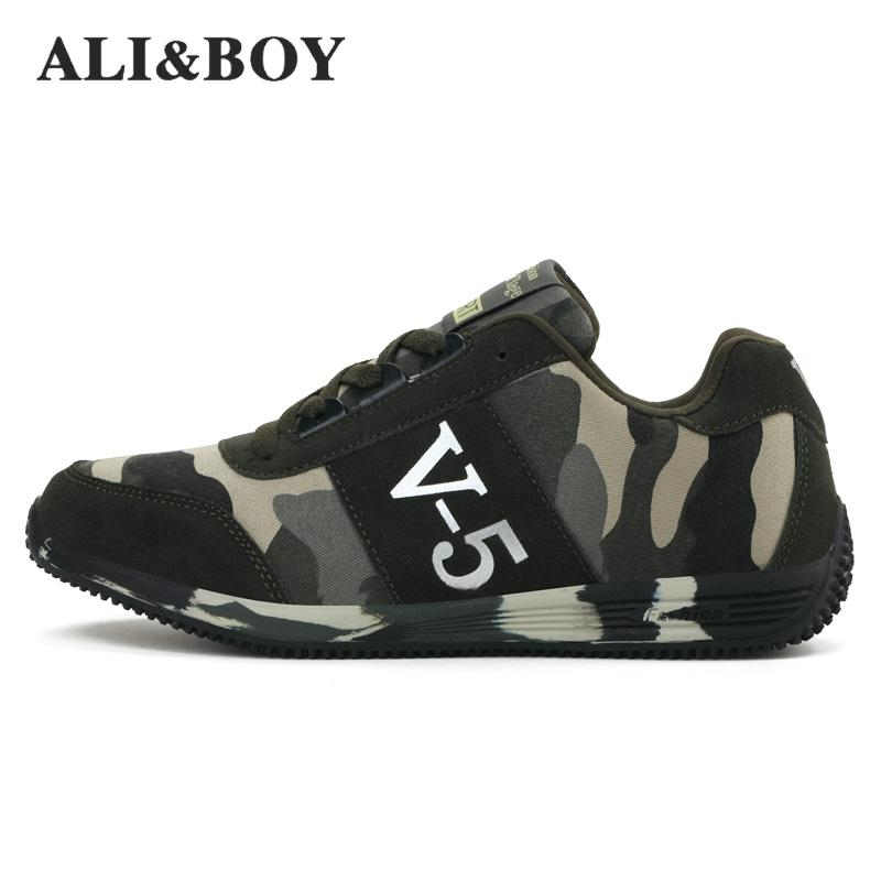 Aliboy Lovers Unisexe Homme Toile Chaussures Camouflage Militaire Hommes Chaussures de Course Automne Respirant Camo Appartements Hommes En Plein Air Sneakers
