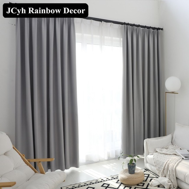 solid plain blackout curtains for window curtains for bedroom the rh aliexpress com