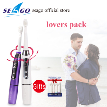 Oral Hygiene New Electric Ultrasonic Toothbrush Battery Operated Teeth Brush Waterproof Sonic Toothbrush 2 Brushing Mode SG619