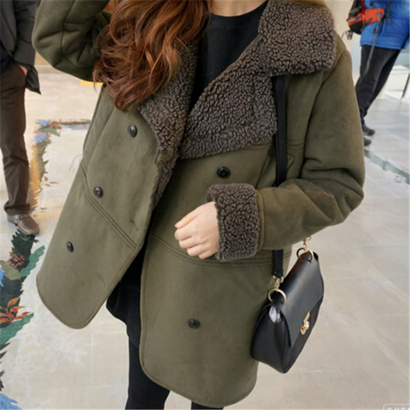 New Women's Winter Jacket Wadded Padded Cotton Outerwear Female Thick Suede Coat Loose Parkas Ladies Clothing Large Size LQ108 linenall women parkas loose medium long slanting lapel wadded jacket outerwear female plus size vintage cotton padded jacket ym