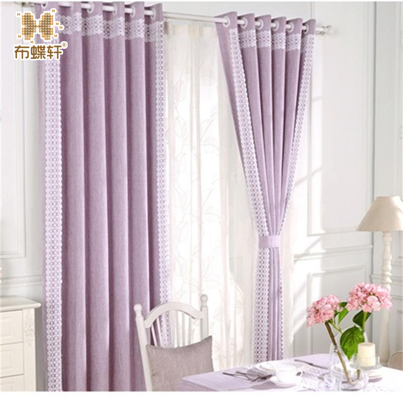 Modern Linen Royal Luxury Curtain for Bedroom Window Curtains for Living Room Elegant Drapes Curtains With White Lace