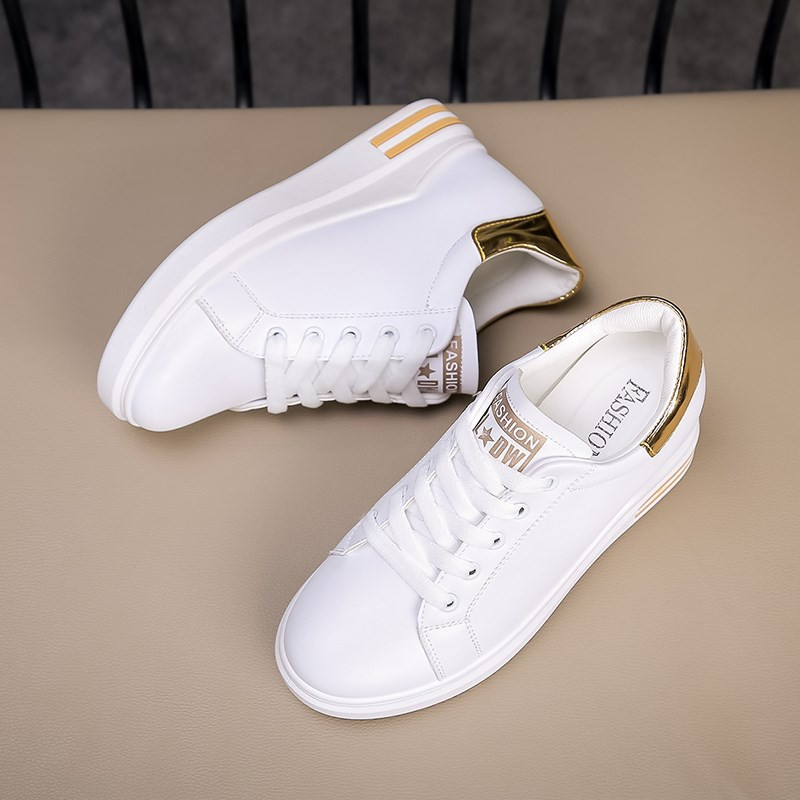 569244f0b1 Mulheres Brancas Tênis de Plataforma 2018 Moda Cunhas Sapatos para As Mulheres  Cunha Tênis Das Senhoras Ata Acima Tênis De Salto Alto Sapatos Femininos em  ...