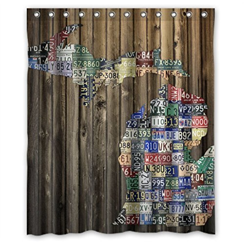 Michigan Counties State License Plate Map Shower Curtains 60 By 72 In From Home Garden On Aliexpress