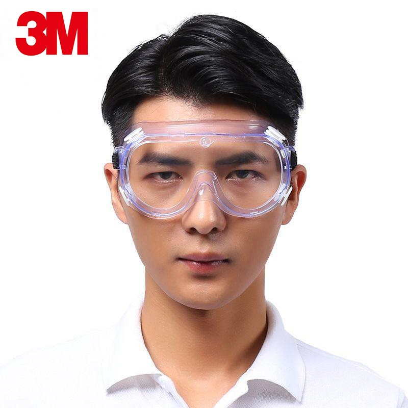 3M 1621AF Anti-Impact Chemical Splash Goggles Safety Universal Outdoor Vent Glasses Anti-Fog UV Work Lens Protective Factory Lab