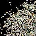 Mix Piedras para Uñas Strass Cristales Claro Cristal AB Rhinestones Del Clavo de La Mezcla Del Arte Del Clavo 3D Nail Art Decoraciones Manicura MJZ0030