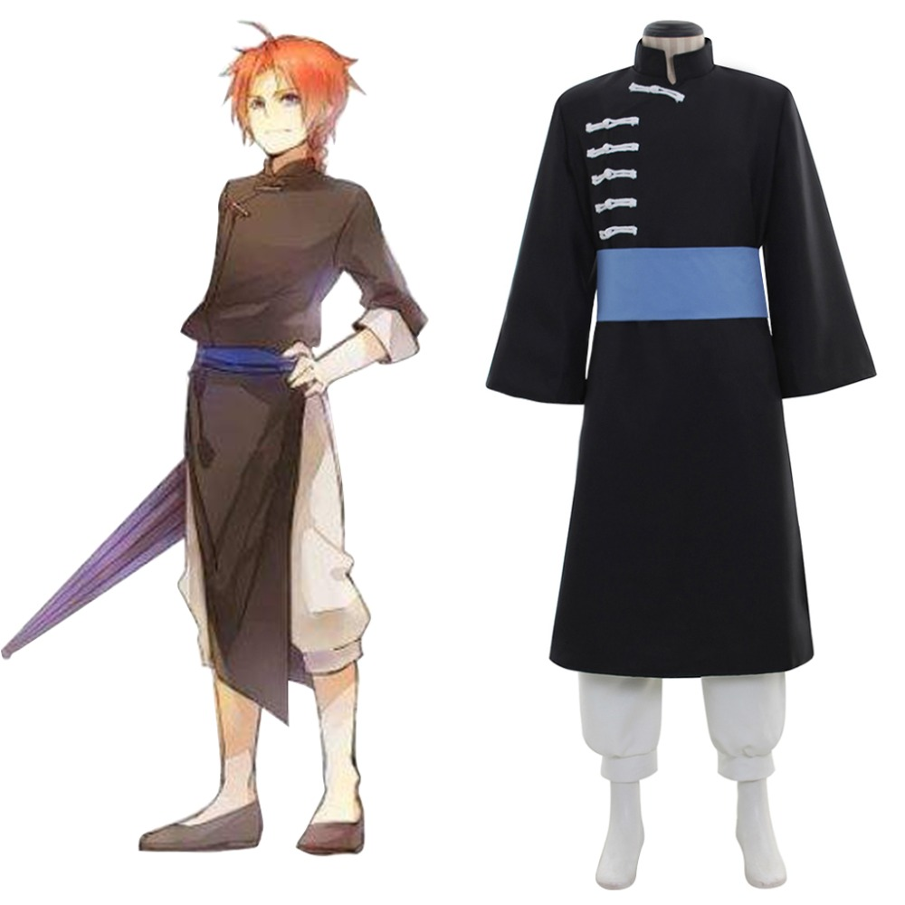 Cosplaydiy Anime Gintama Kamui Halloween Cosplay Costume Adult Unisex Fancy Party Costume Suit L320