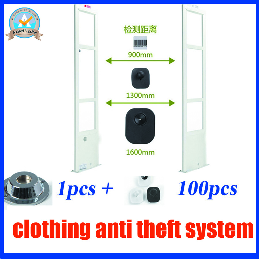 Professional clothing store security alarm system,RF 8.2Mhz eas system,free security tag detacher1pcs and security tag100pcs