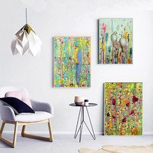 Jungle Bird Watercolor Canvas Painting Wall Art Nordic Decoration Home Modern Poster For Living Room Unframed Print Pictures