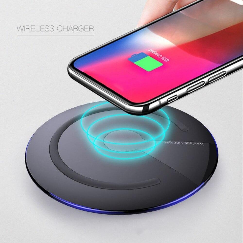 Forma redonda cargador inalámbrico cojín de carga para Smartphone conveniente fácil llevar la energía eficiente de carga para Smartphones