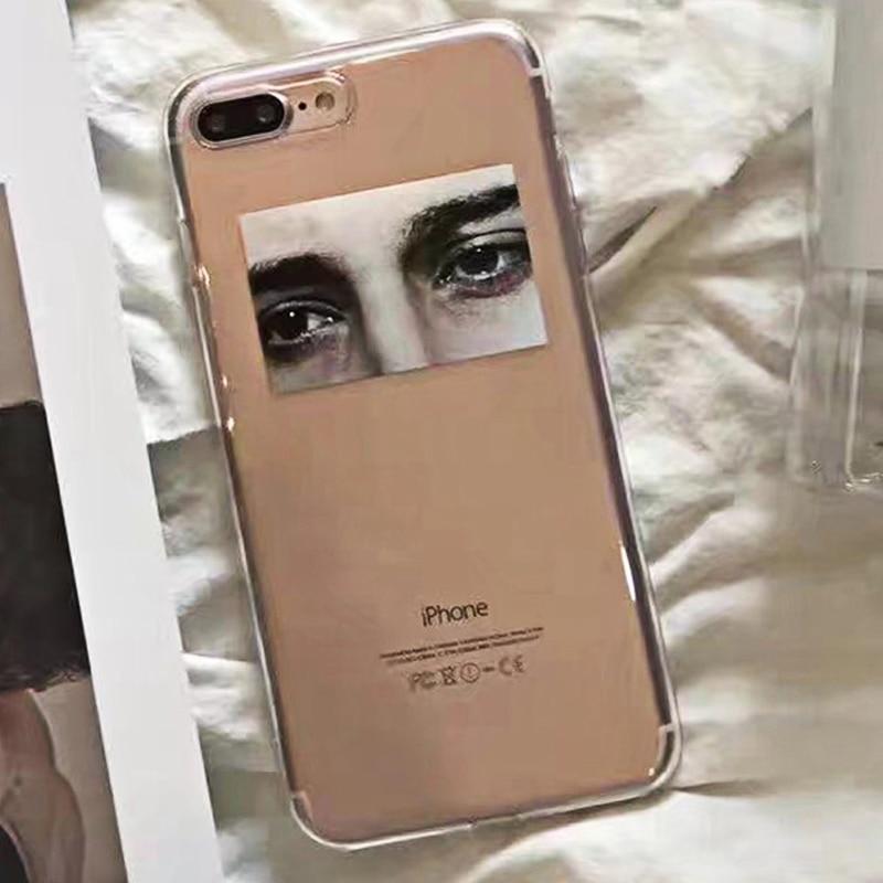 SUYACS For iPhone 5 5S SE 6 6S 7 8 Plus X XS MAX XR Phone Case Illustrations Sad