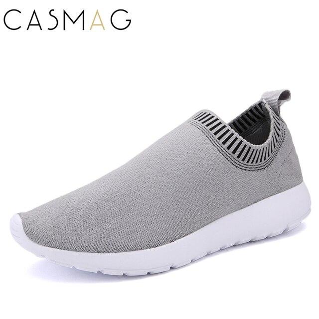CASMAG Original Quality Slip On Free Knit Running Shoes for Men Breathable  Mesh Trainer Sneaker Man's