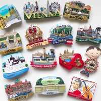 BABELEMI European Tourist Souvenirs Fridge Magnets 3D Austria Czech Republic Hungary Refrigerator Magnet Vienna Prague Budapest