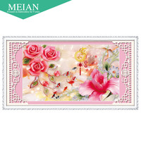 New 5D Diamond Painting The Living Room Home And Wealth Rose Diamond Diamond Paste Embroidered