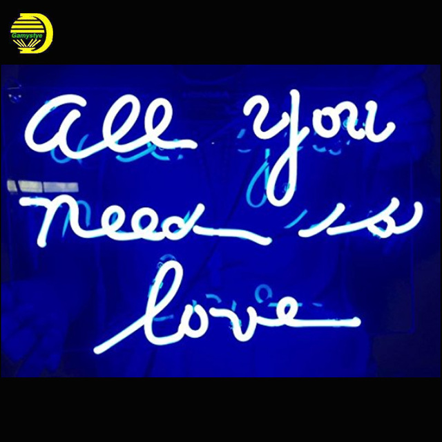 Neon Sign Light Beer Bar Girls Wall Window Lights Bedroom Home Signs ALL  YOU NEED IS