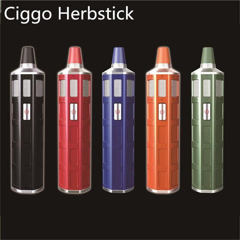 Kit de vaporisateur Original Ciggo Herbstick 2200mah batterie intégrée 18650 Kit de vaporisateur d'herbes sèches 0.3g capacité mise à niveau nouveau