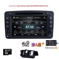 2 Din 7 Inch Car DVD Player For Mercedes/Benz/CLK/W209/W203/W208/W463/W170/Vaneo/Viano/Vito/E210/C208 Canbus FM GPS Radio BT CAM