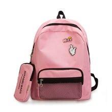 3PCS / LOT Fashion 2 set Women Backpack Female Nylon Casual Bagpack Design Bag For