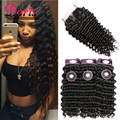 Deep Curly Brazilian Hair With Closure Grace Brazilian Deep Wave Virgin Hair With Closure Shining Star Hair With Closure