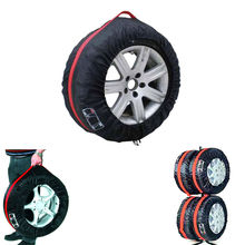 BBQ@FUKA 4 Pcs Car 13″-19″ Wheel Tire Protection Cover Portable Nylon Carry Storage Bags Fit for VW KIA Ford BMW Car accessories