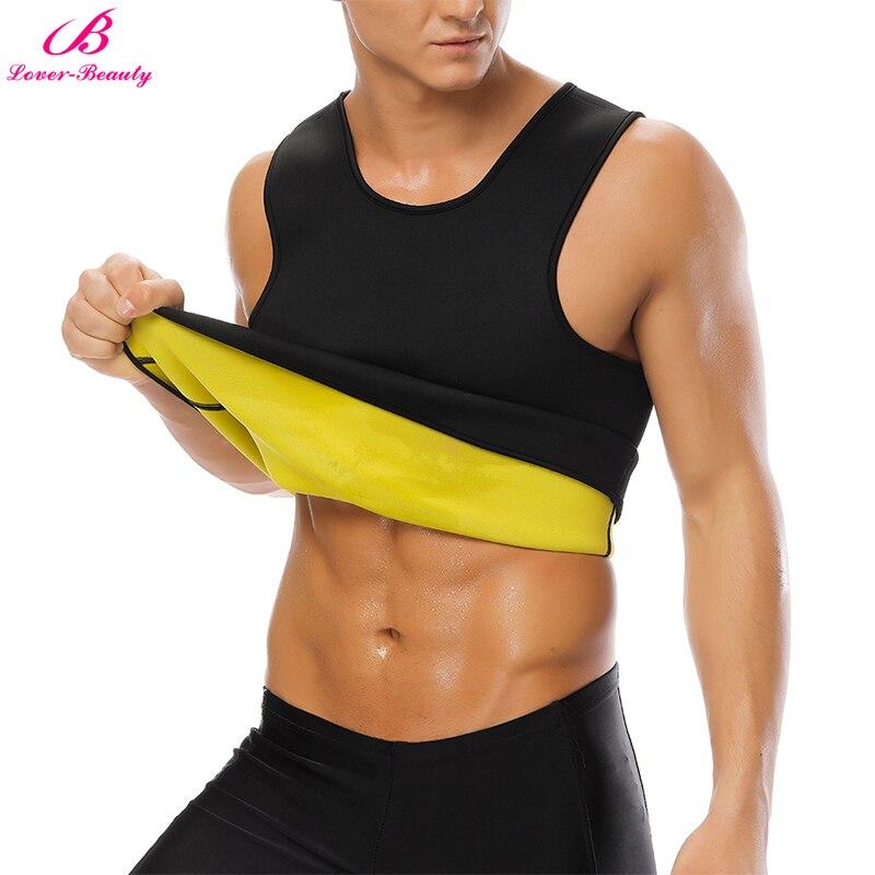 Lover Beauty Men's Sweat Vest Body Shaper Shirt Thermo Slimming Sauna Suit Weight Loss Black Shapewear Neoprene Waist Trainer