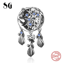 SG New Arrival 925 Sterling Silver Charms Dream catcher Beads Fit pandora bracelets fashion DIY Jewelry making for women gifts sg new arrival 925 sterling silver charms dream catcher beads with cz fit pandora bracelets diy jewelry making for women gifts