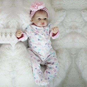 Image 3 - OtardDolls Boneca Reborn 22inch Soft Silicone Vinyl Doll 55cm Soft Silicone Reborn Baby Doll New born Lifelike Bebe Reborn Dolls