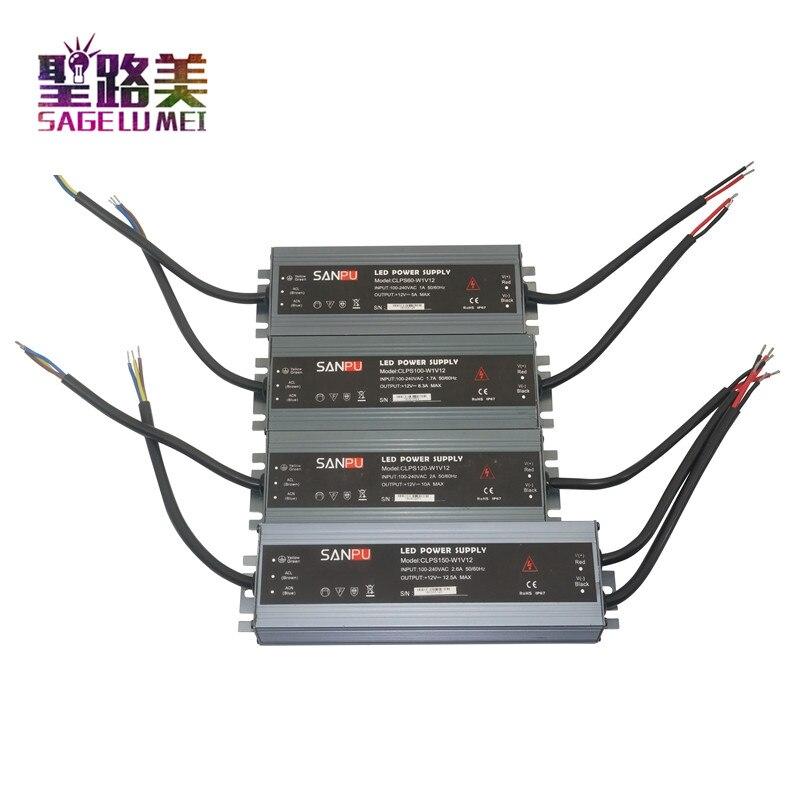 Ultra-fino LEVOU fonte de alimentação à prova d' água IP68 AC110V-220V para DC12V/DC24V transformador 45 w/60 w/ 100 w/120 w/150 w/200 w/300 w levou Motorista