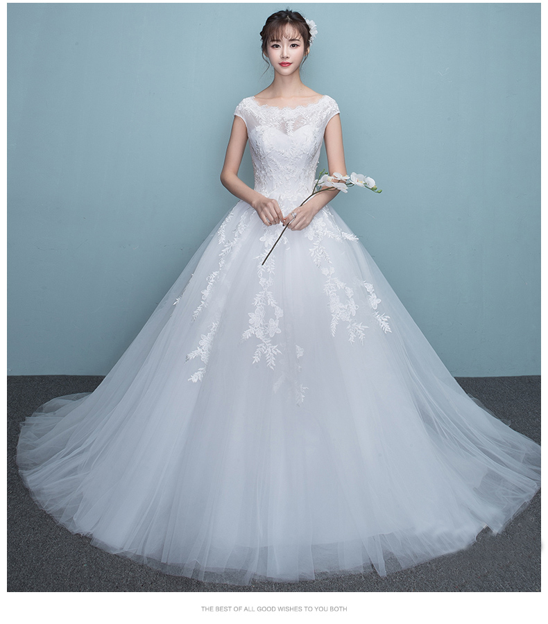Summer Exquisite Lace Up Ball Gowns High Quality Appliques Wedding Dresses 2018 New Wedding Party Dress Vestido De Festa