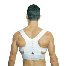 Power Magnetic Posture Humpback Support Corrector Back Brace Belt Magic Strap XXL High Quality
