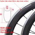 Дешевая ширина 25 мм китайский карбоновый клинчер шоссейный велосипед колеса 50 мм с легированной тормозной поверхностью Novatec A565SBT 700c