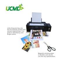 10ชิ้น/ล็อตA4แม่เหล็กInkjetพิมพ์แผ่นแผ่นกระดาษเคลือบด้านแม่เหล็กการพิมพ์กระดาษตู้เย็นตู้เย็นสติกเกอร์