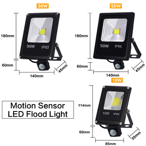 Image 2 - Motion Sensor LED Flood Light 220V 50W 30W 10W Waterproof IP65 Reflector Floodlight Lamp foco Led Exterior Spot Outdoor Light