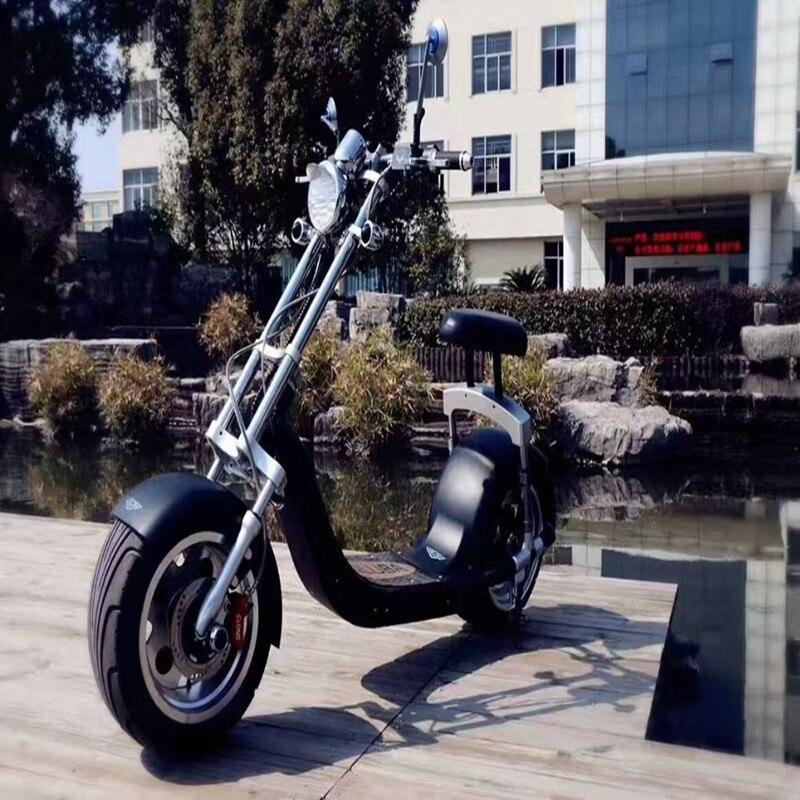 Graisse roue citycoco 1200 w scooter électrique kick scooter 200 kg charge deux roues scooter électrique moto - 5