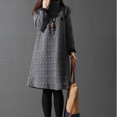 e0a70701688 2018 New Turtleneck Loose Maternity Dresses Fall Winter Maternity Clothes  Thick Pregnant Women Lactation Vestido Plus Size-in Dresses from Mother    Kids on ...