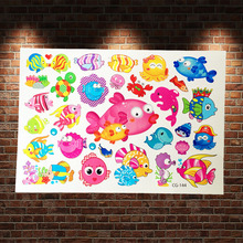 Marine Animal Fake Waterproof Tattoo Stickers Children School Sea Fish Flash Temporary Tattoo Carp Healthy Tattoo Style