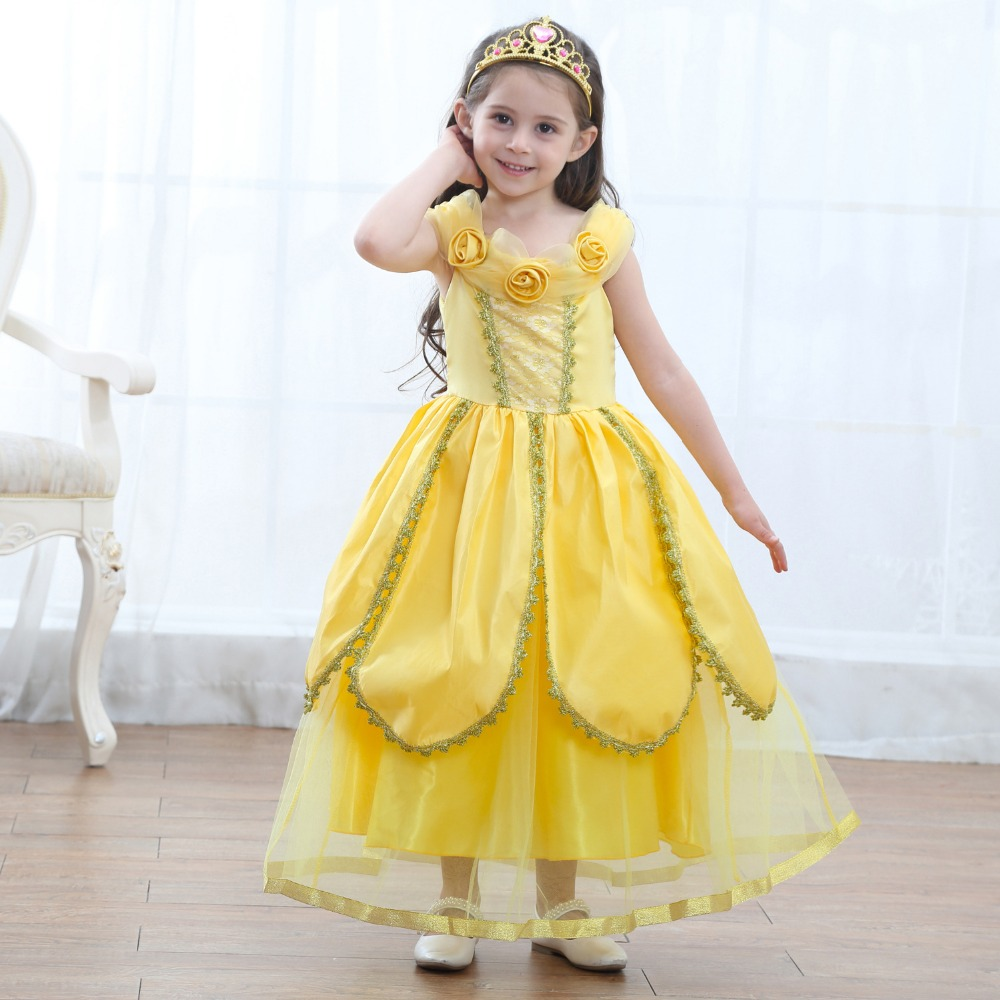 Beautiful Girl Belle Princess Dresses Children Christmas Carnival Party Costume Kids Beauty and the Beast Costumes Candy Dress -in Dresses from Mother ...  sc 1 st  AliExpress.com & Beautiful Girl Belle Princess Dresses Children Christmas Carnival ...