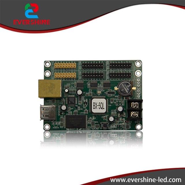 BX-5QL асинхронный RGB полноцветный СВЕТОДИОДНЫЙ Экран Панели Платы Управления С Ethernet и USB порт Поддержка P3, P4, P5, P6, P7.62, P8, P10, P16