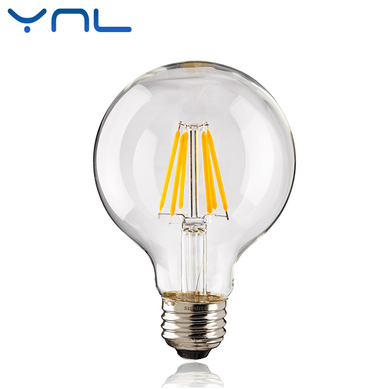 YNL Antique Retro Vintage LED Edison Bulb E27 LED Filament Light G45 G80 G95 AC220V 240V 2W 4W 6W 8W Lampada LED Glass Bulb 5pcs e27 led bulb 2w 4w 6w vintage cold white warm white edison lamp g45 led filament decorative bulb ac 220v 240v