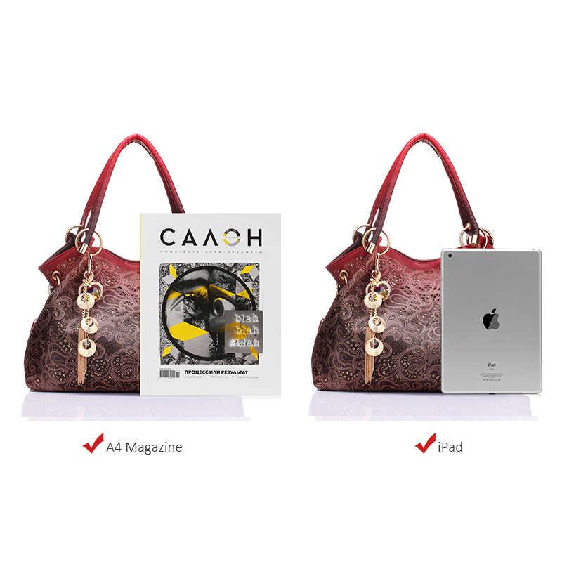 ab9434fe0a0b ... Бренд REALER большая сумка женская через плечо с орнаментом, сумки  женские, ажурная сумка хобо ...