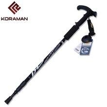 Best Buy Walking Sticks Poles T-handle 135CM Telescopic Ultra Light Wear Resistance Aluminum Alloy Camping Hiking Stick Trekking Poles