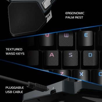 GameSir Z1 Gaming Keypad, One-handed Cherry MX red switch keyboard / Mechanical Blue axis /BattleDock, Gaming mouse optional 6