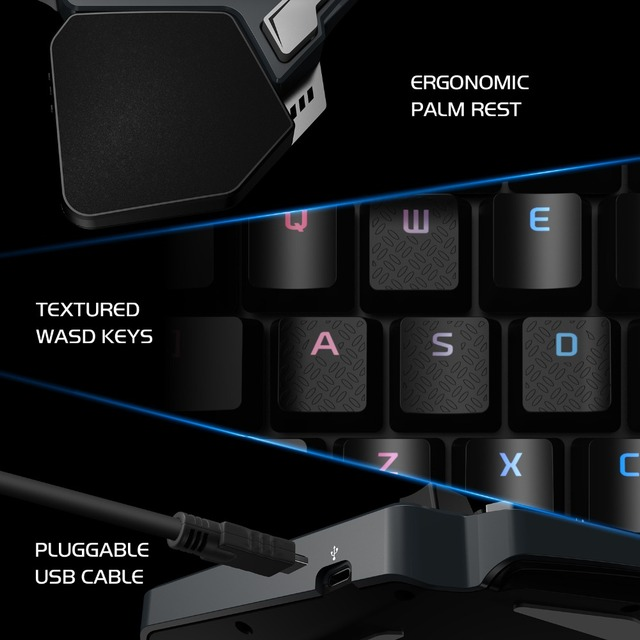 GameSir Z1 Gaming Keypad, One-handed Cherry MX red switch keyboard / Mechanical Blue axis /BattleDock, Gaming mouse optional 5