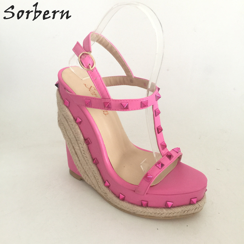 Здесь продается  Sorbern Sandalias Mujer Women Sandals Wedges Plus Size 34-46 Wedge Shoes For Women Chaussure Femme Platform Sandals Custom Color  Обувь